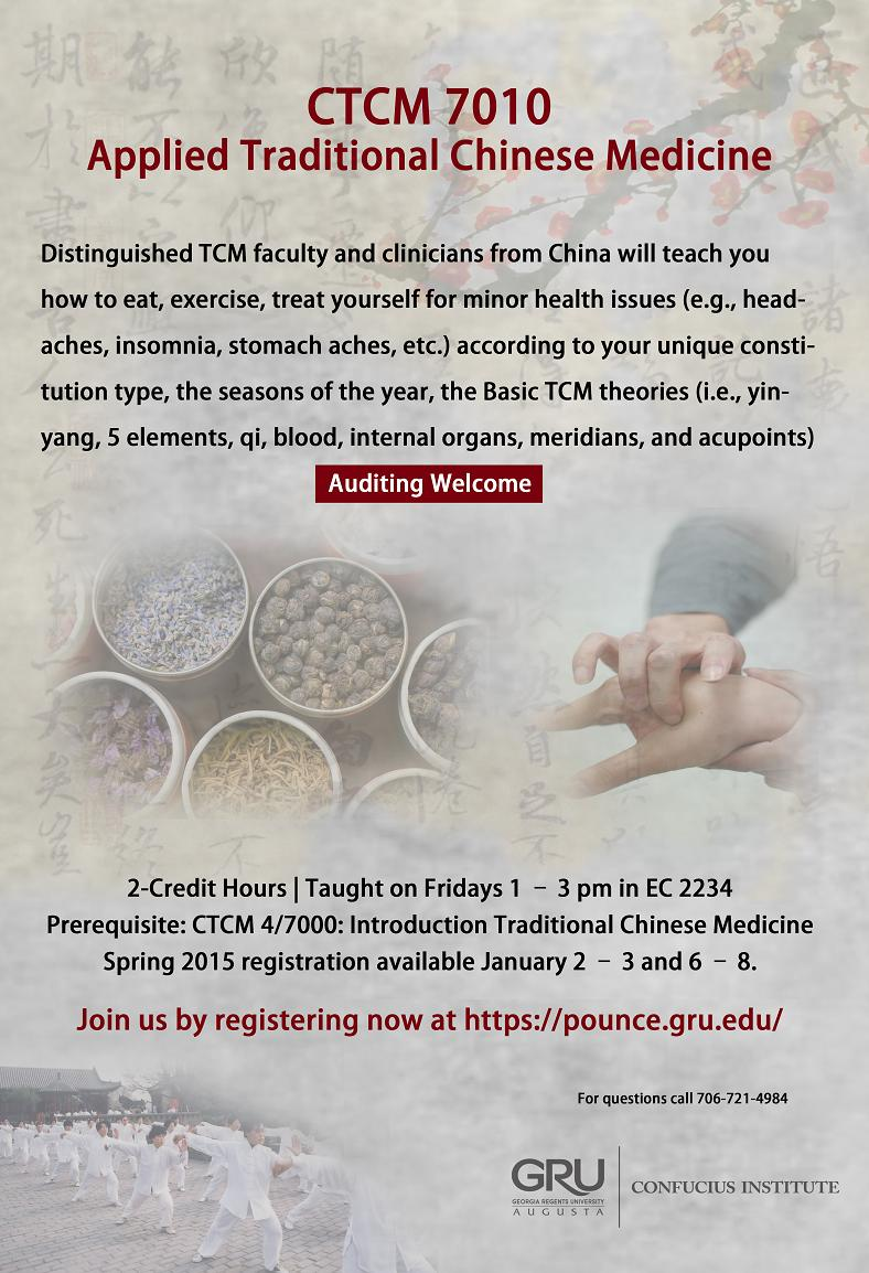 2015 Gru Tcm Credit Courses Lis Traditional Chinese Medicine